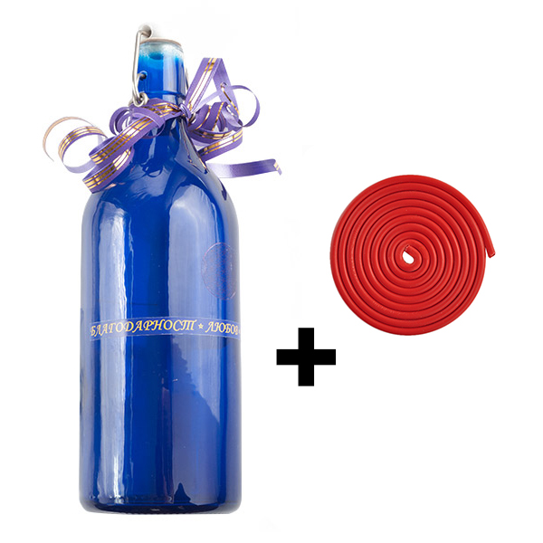 Бутилка за структурирана вода + спирала за защита от геопатогенни зони